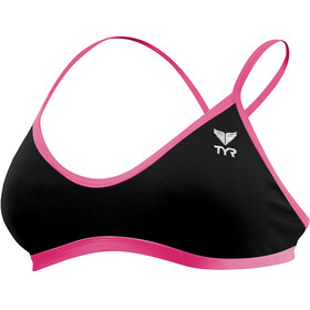 TYR Solid Trinity Top Women Black/Pink